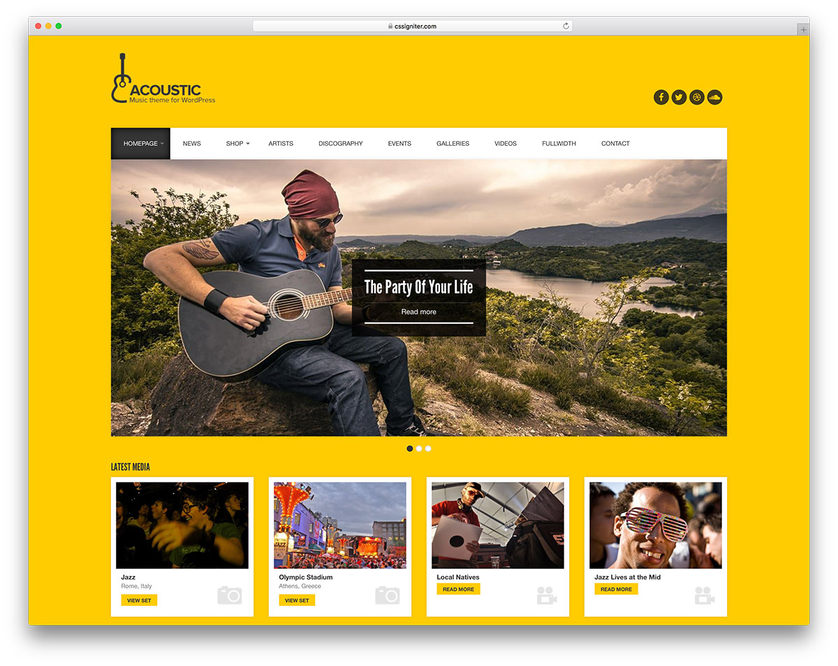 Awesome Responsive WordPress Music Themes Colorlib - Fresh podcast website template scheme