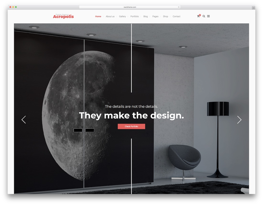Acropolis Interior Design Website Template