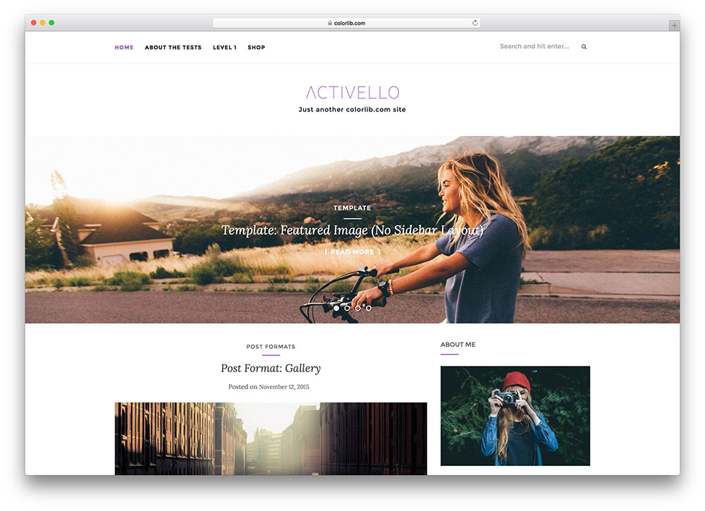 30+ Free Responsive Photography WordPress Themes 2017 - Colorlib