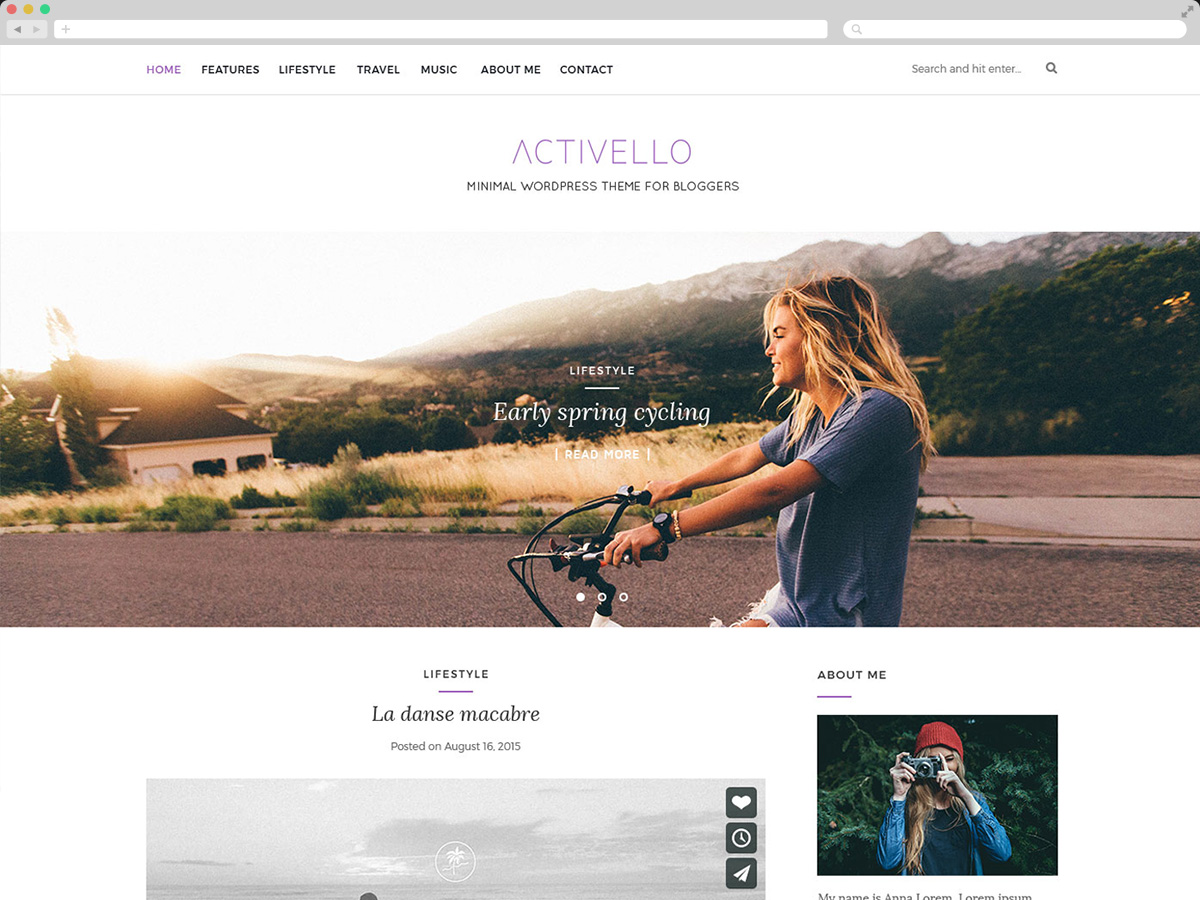 Activello Simple Blog Theme