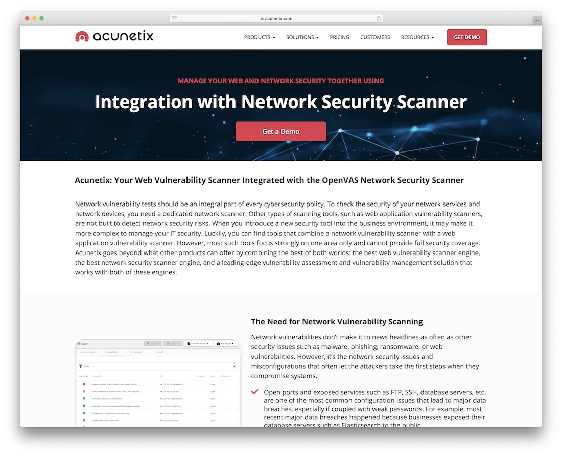 acunetix network security scanner