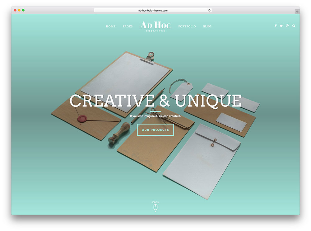 ad hoc - creative agency theme