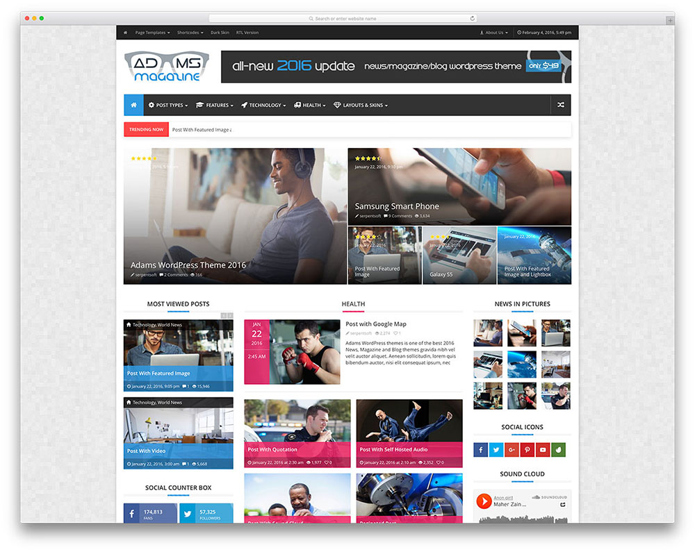 adams-simple-magazine-style-wordpress-theme