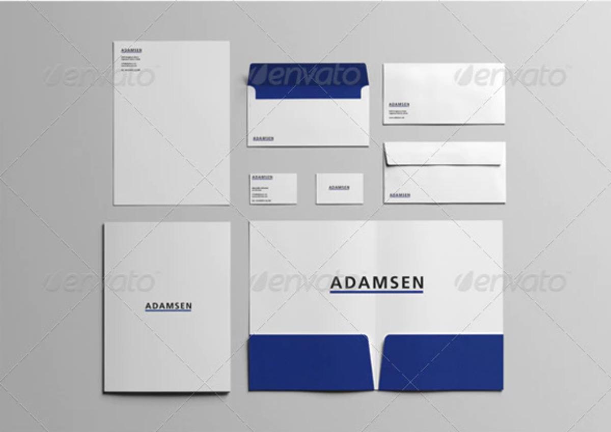 Adamsen Branding Stationery PSD Mockup Set