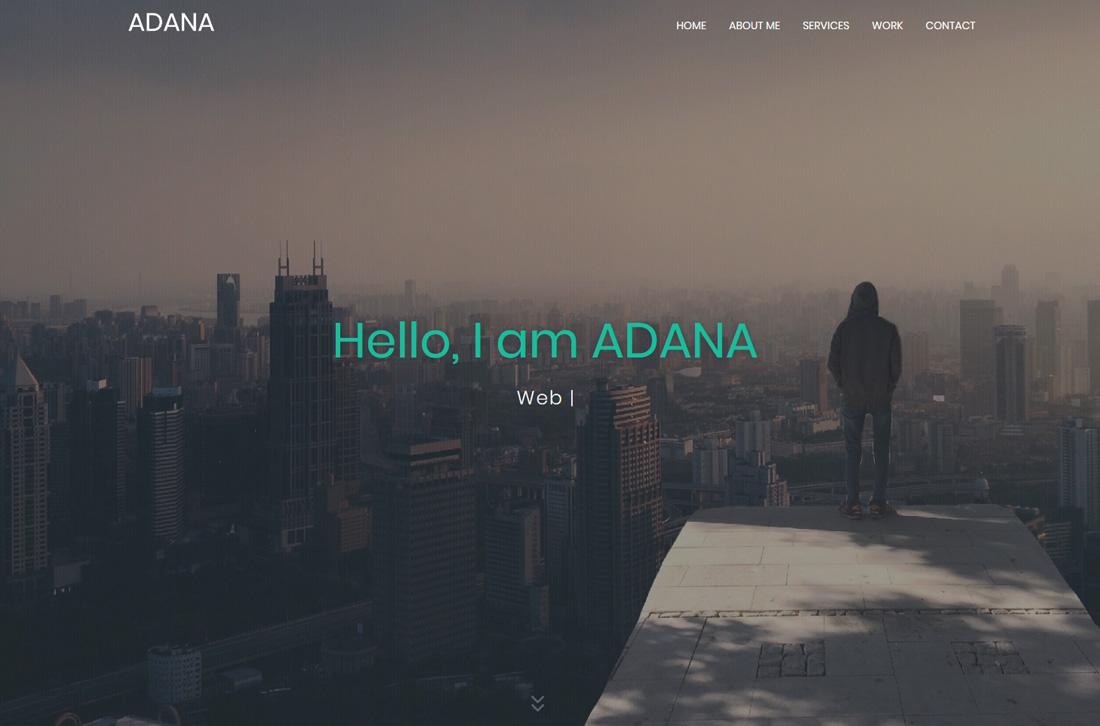 adana-bootstrap-personal-website-templates