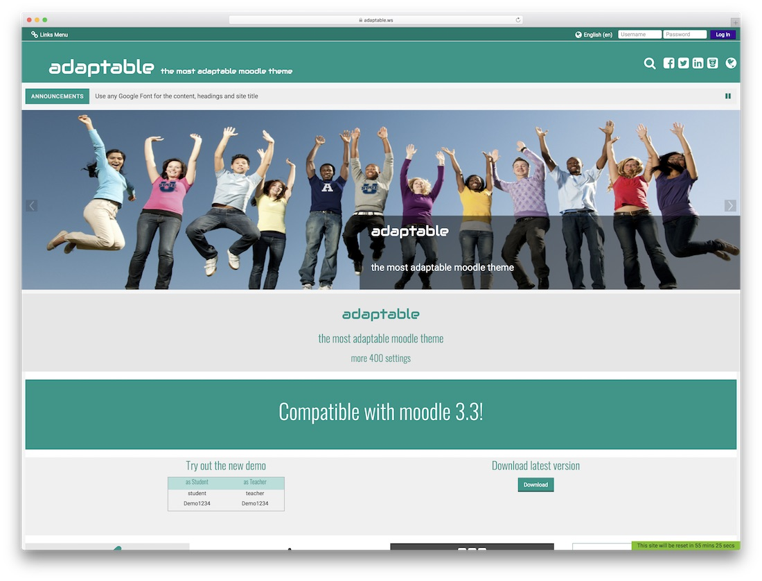 adaptable moodle bootstrap template