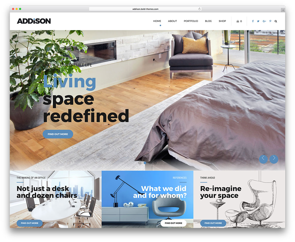 Addison Is An Interior Design WordPress Theme. It Is Mainly Focused On  Decoration And Adjustments Of Internal Spaces. It Also Handles Landscaping  And ...