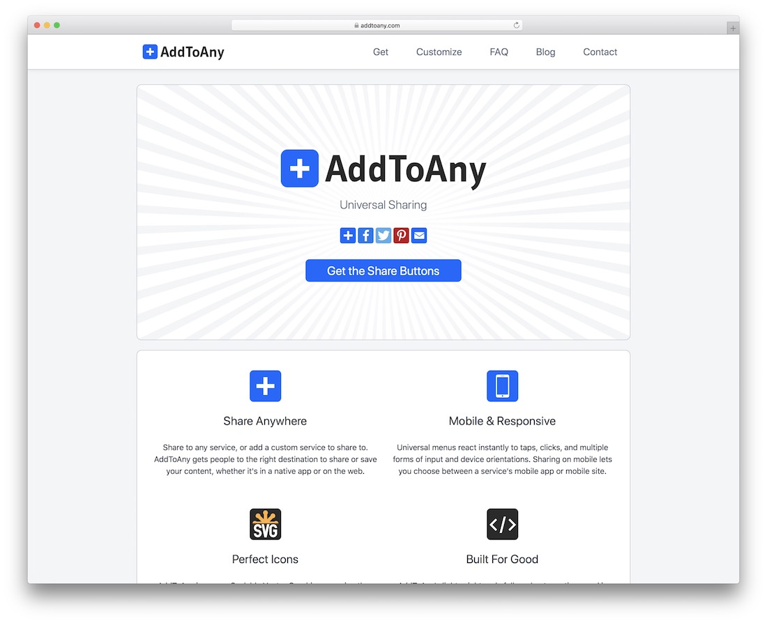 addtoany social sharing button widget