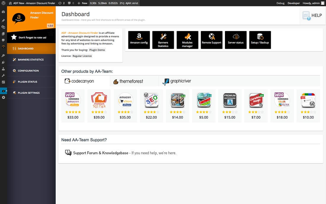 adf amazon discount finder for wordpress