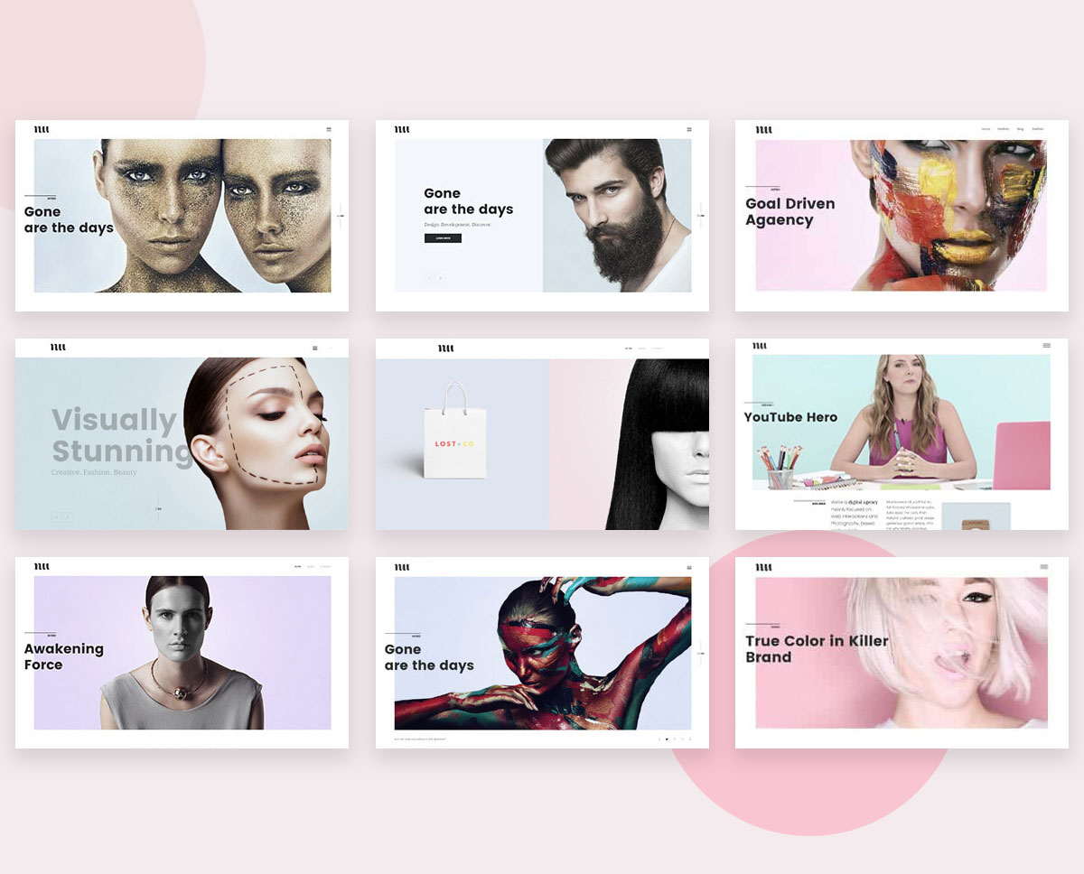 portfolio web design based on WordPress
