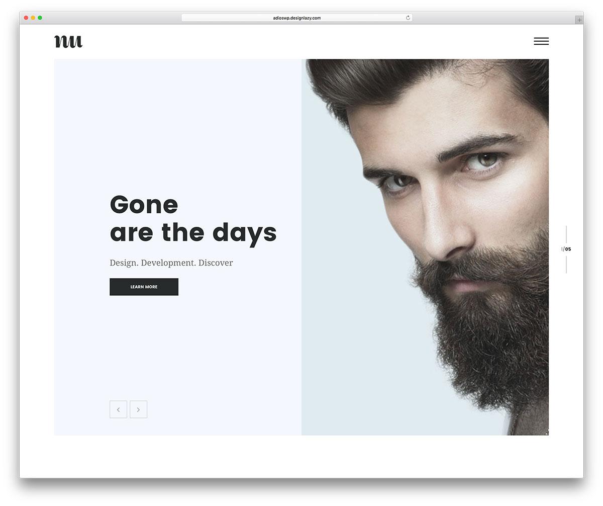 Adios theme wordpress designer