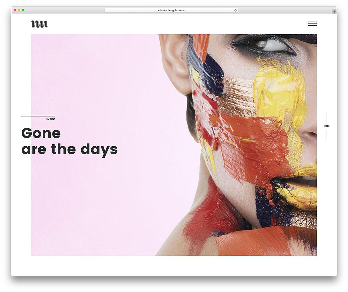 adios-simple-artist-portfolio-wordpress-theme