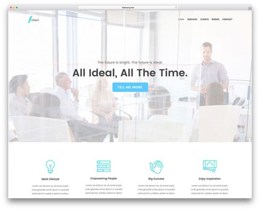 Adobe Muse Business Website Templates