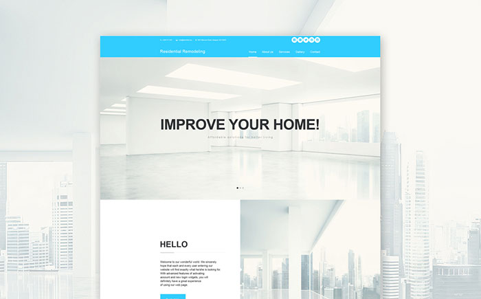 Top Clean Adobe Muse Website Templates Colorlib - Home remodeling website templates