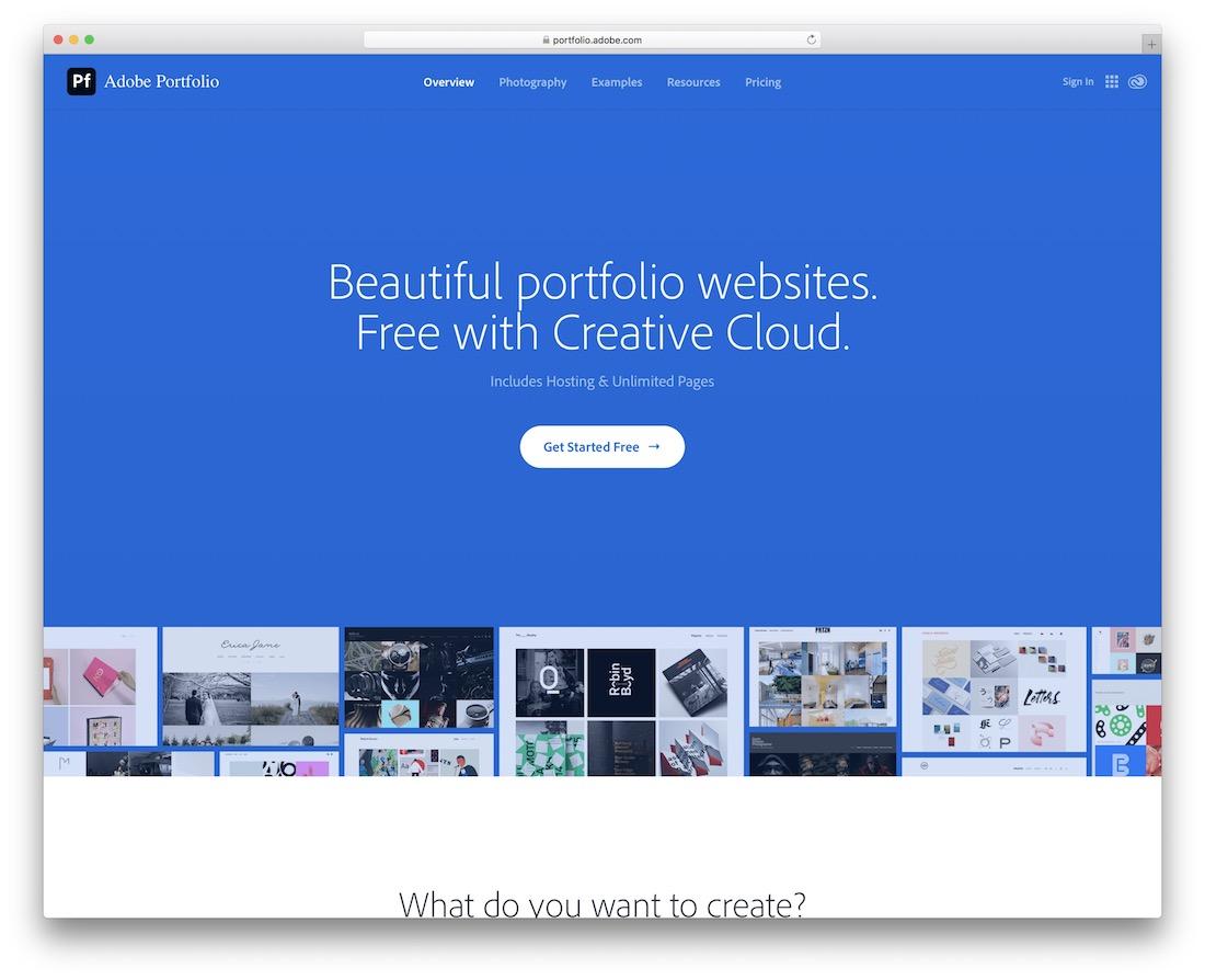 adobe portfolio build portfolio website