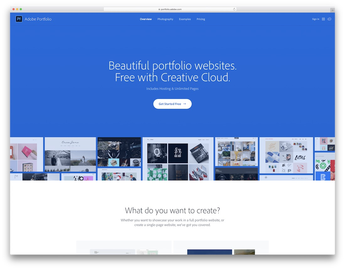 adobe portfolio website builder for designers