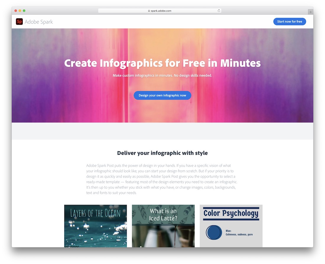 adobe spark tool for creating infographics