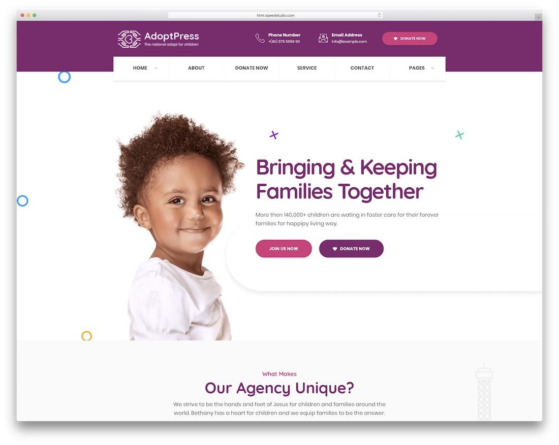 adoptpress website template