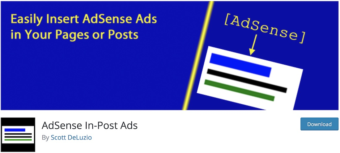 adsense in post ads free wordpress plugin