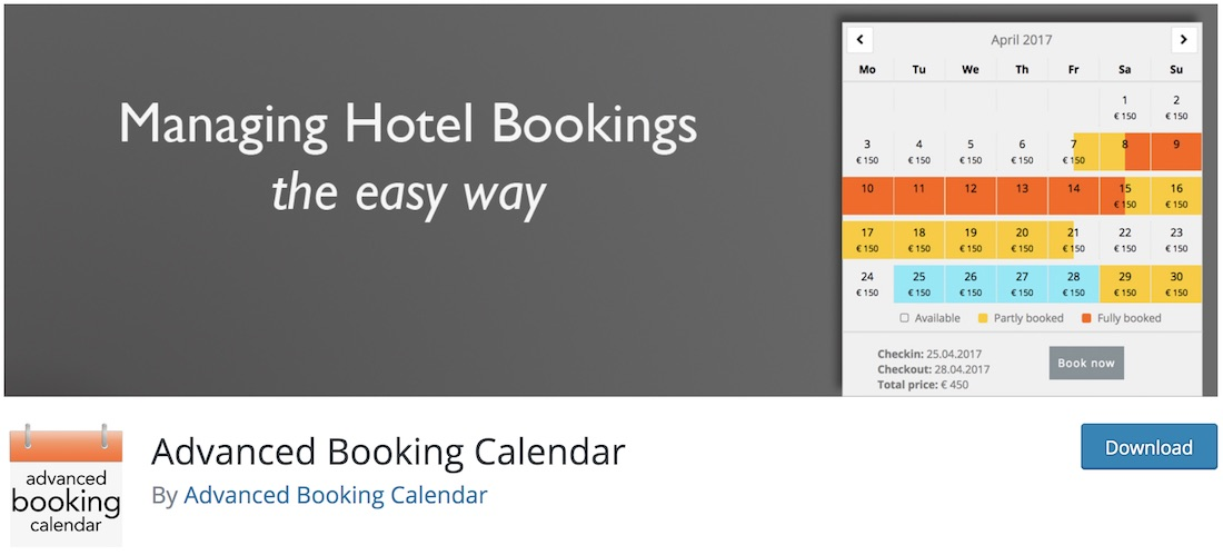 advanced booking calendar free wordpress plugin