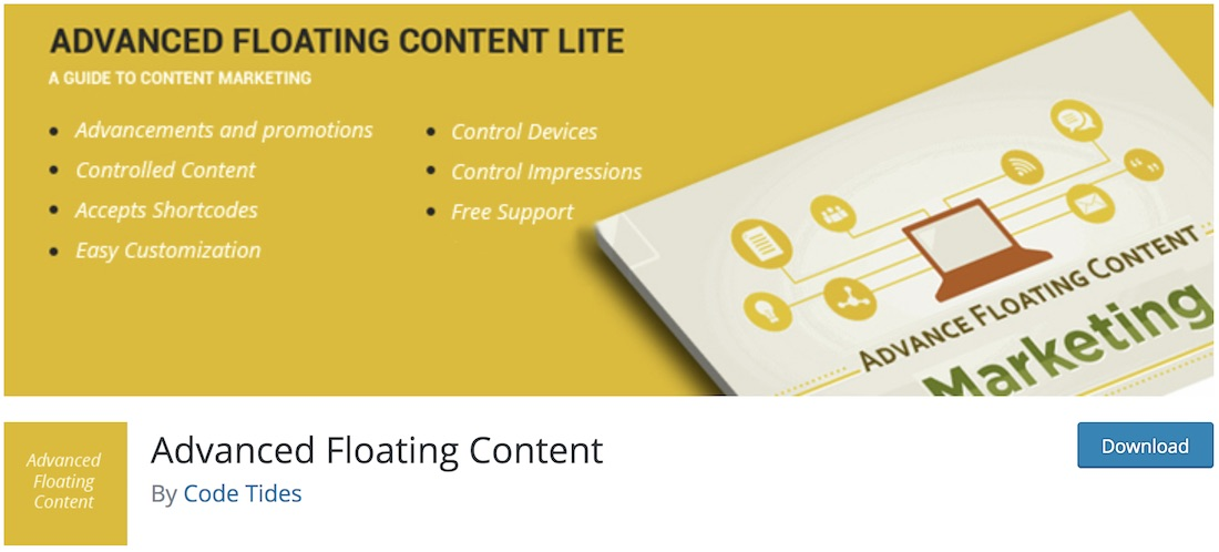 advanced floating content free wordpress advertising plugin