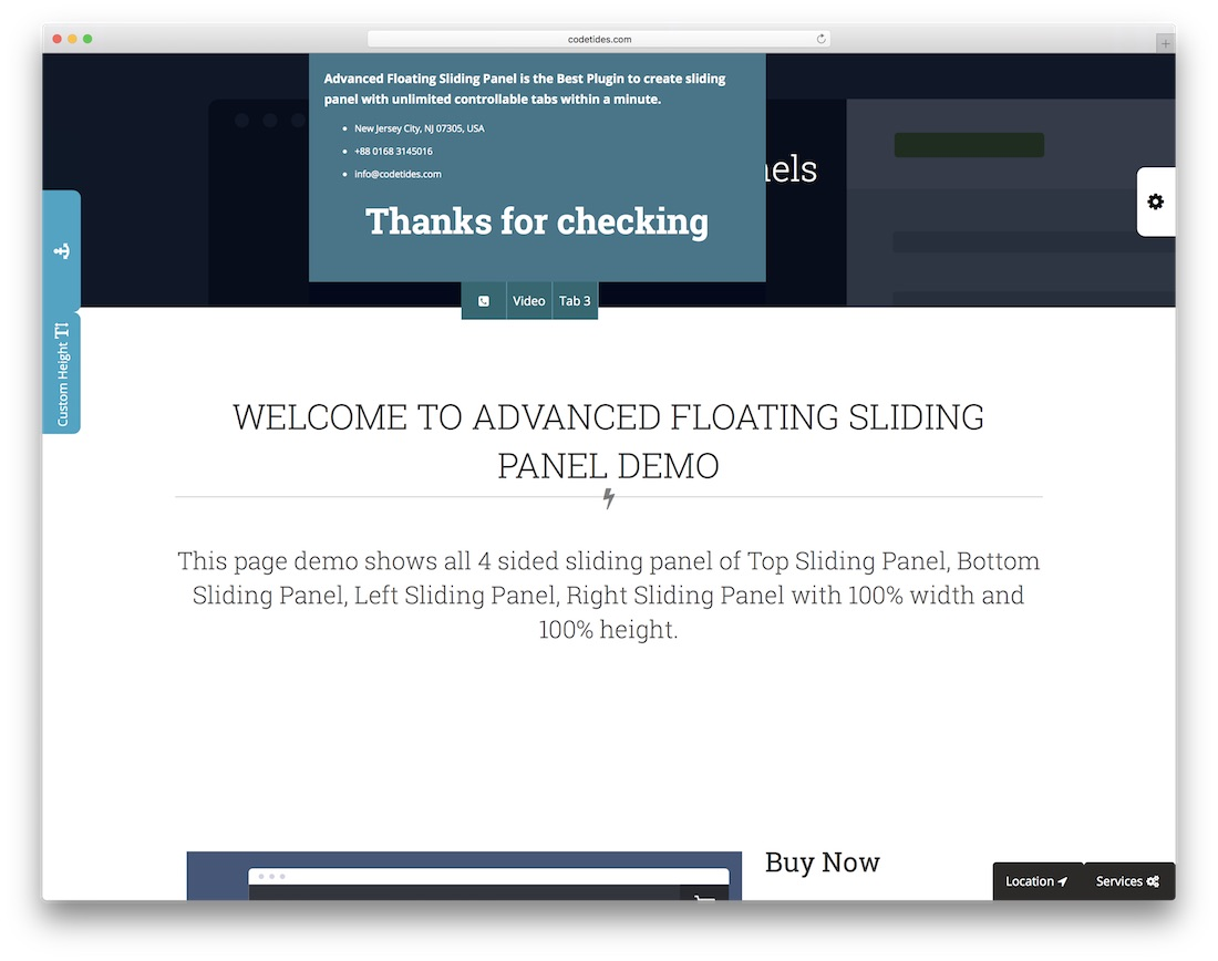 advanced floating sliding panel wordpress advertising plugin