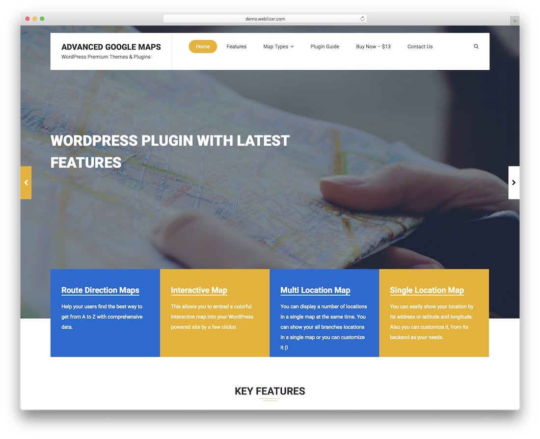 plugin wordpress avancé pour google maps