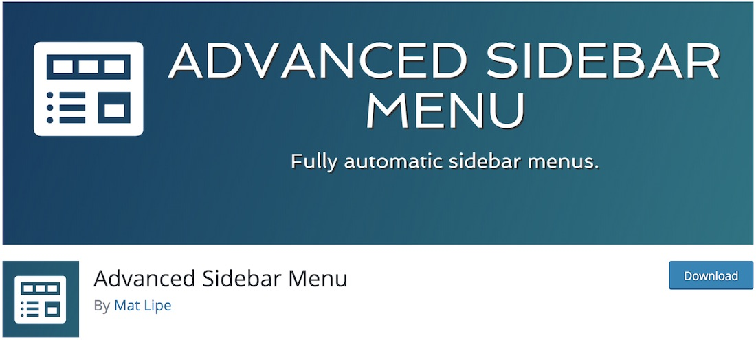 advanced sidebar menu wordpress plugin