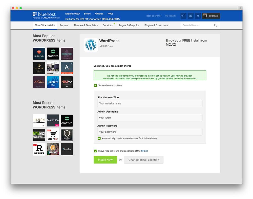 advanced-wordpress-bluehost-setup