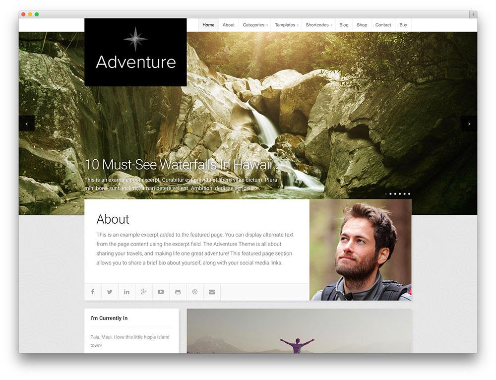 adventure - minimal blog theme