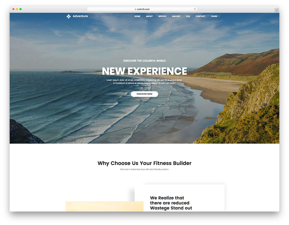 Adventure Free Travel Website Template