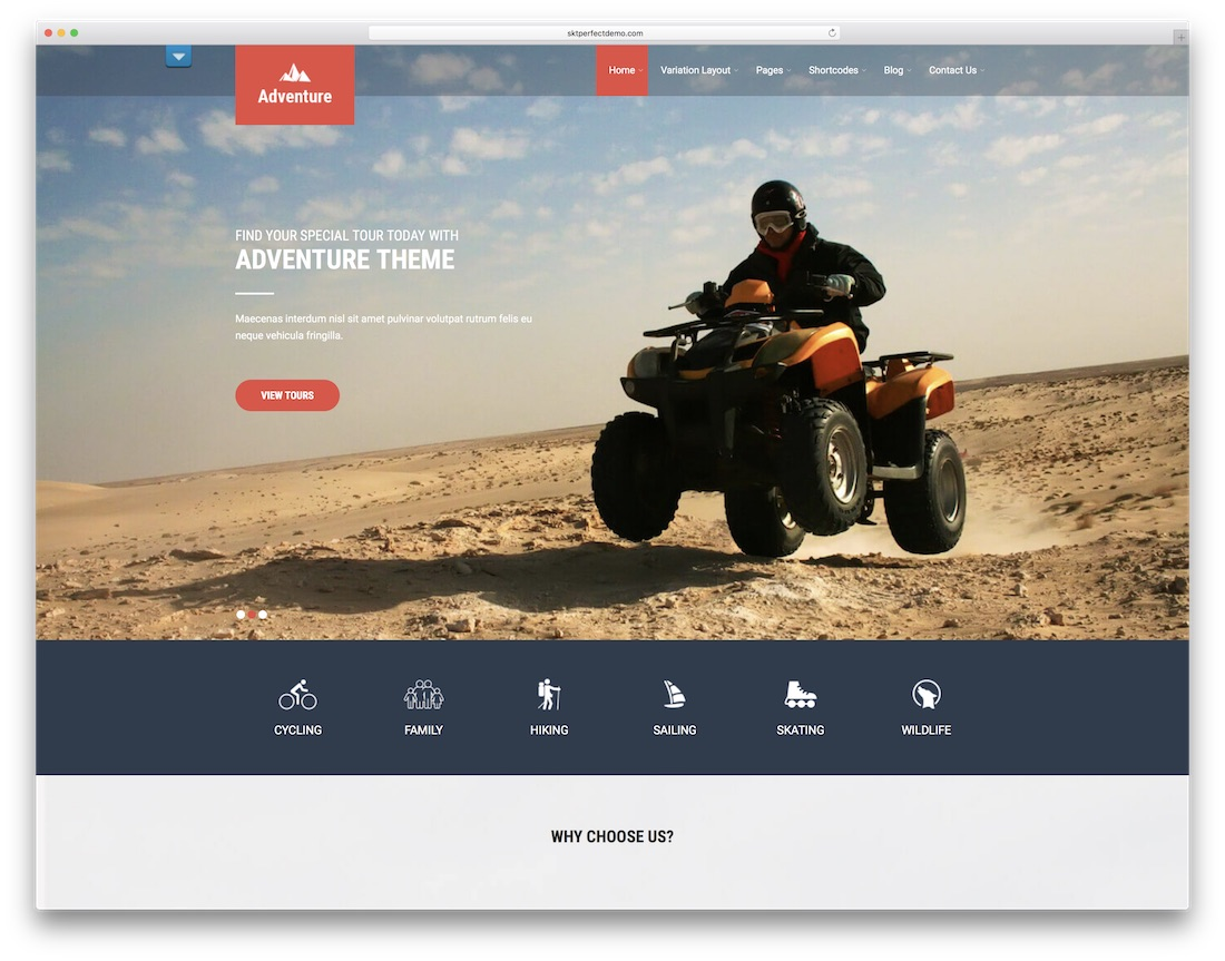 adventure lite website template