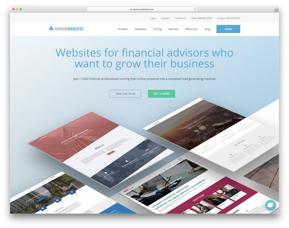 advisorwebsites insurance website builder
