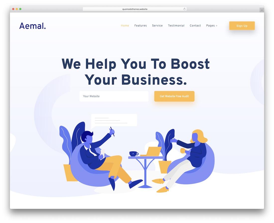 aemal startup website template