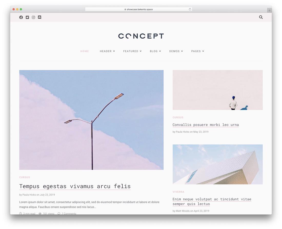 aena tumblr style wordpress theme