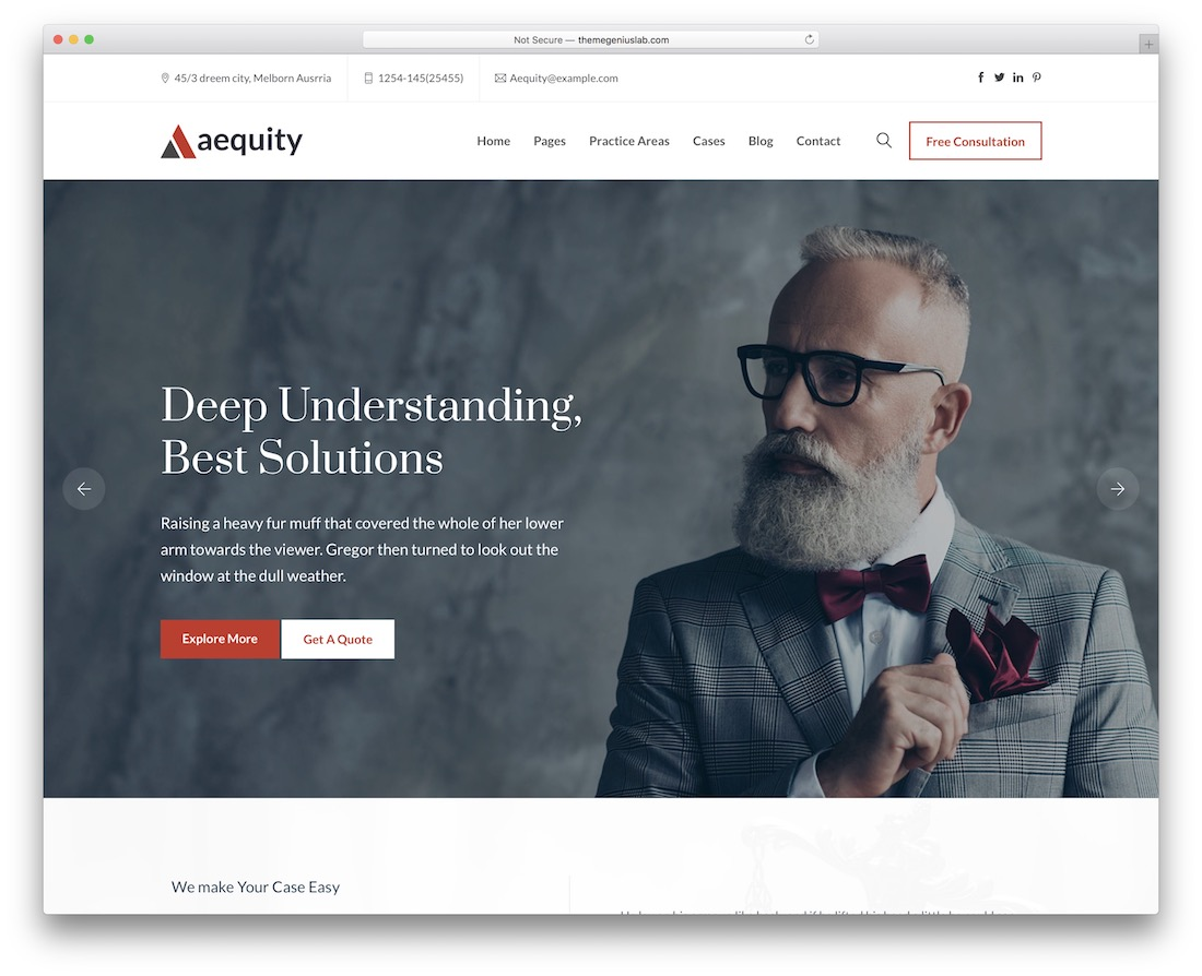 aequity wordpress theme