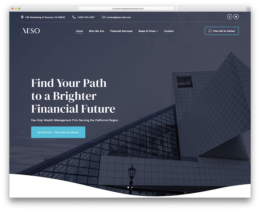 aeso accountant wordpress theme