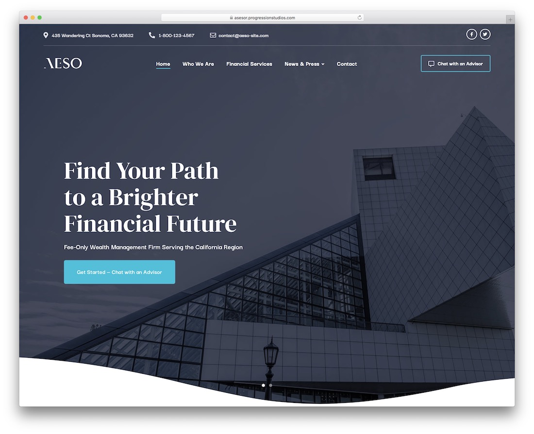 aeso financial website template