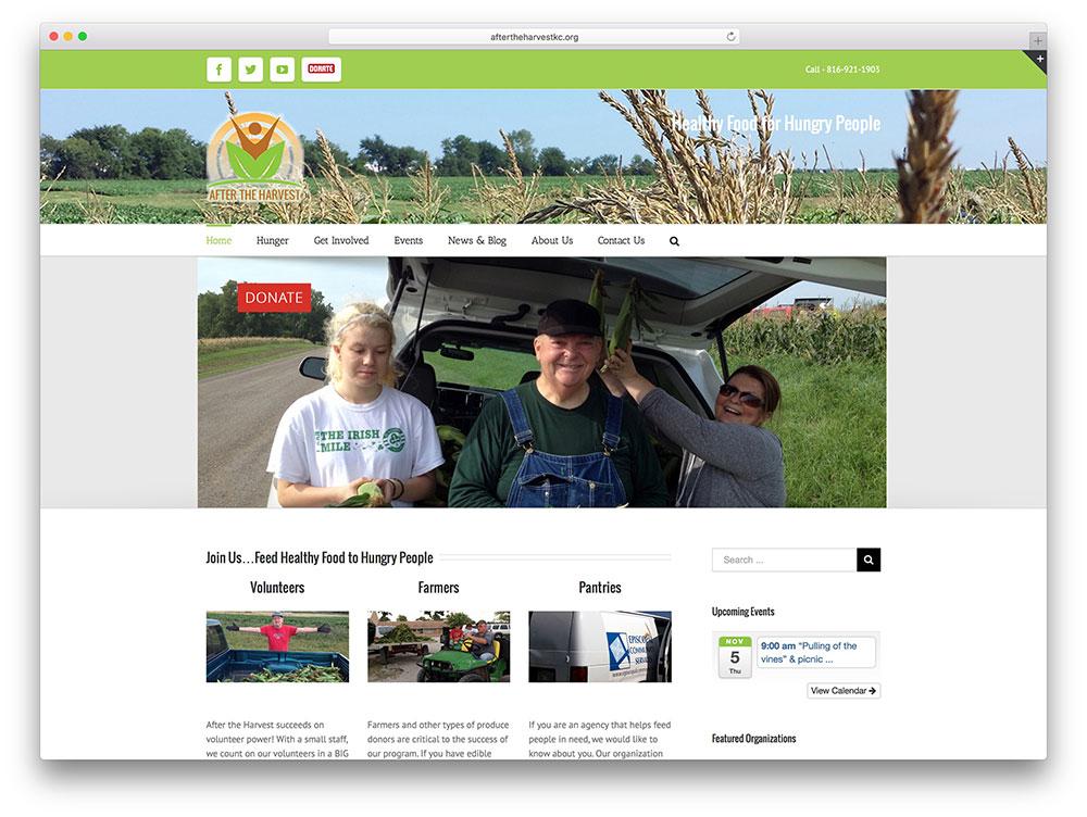 aftertheharvestkc-healthy-food-donation-website