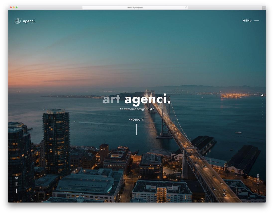 agenci beautiful website template