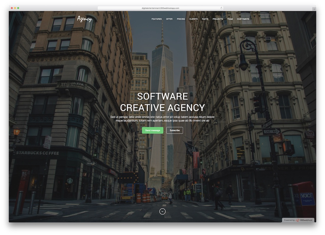 agency angularjs website template