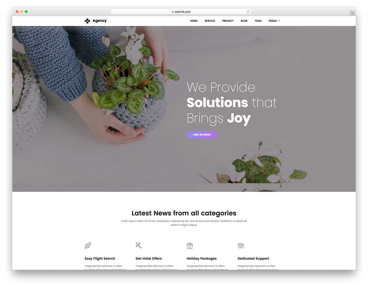79 Free Html Website Templates 2019 Colorlib