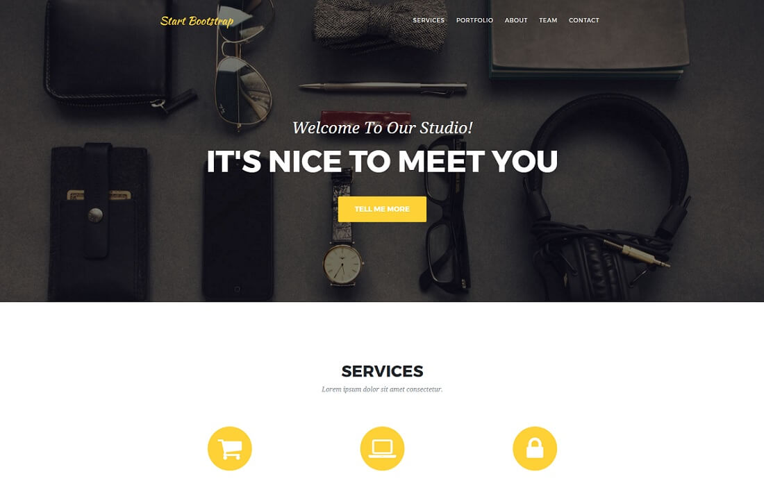 agency free bootstrap 4 portfolio website template