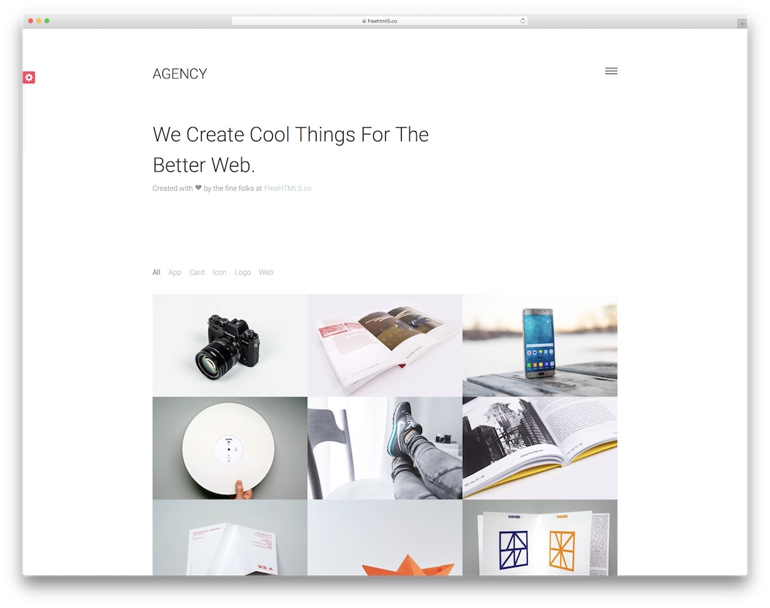 agency free bootstrap gallery template