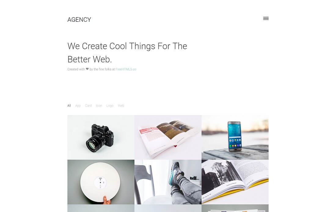 agency free simple html template