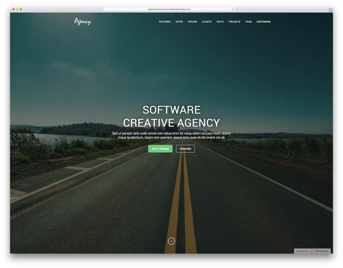 agency seo friendly website template