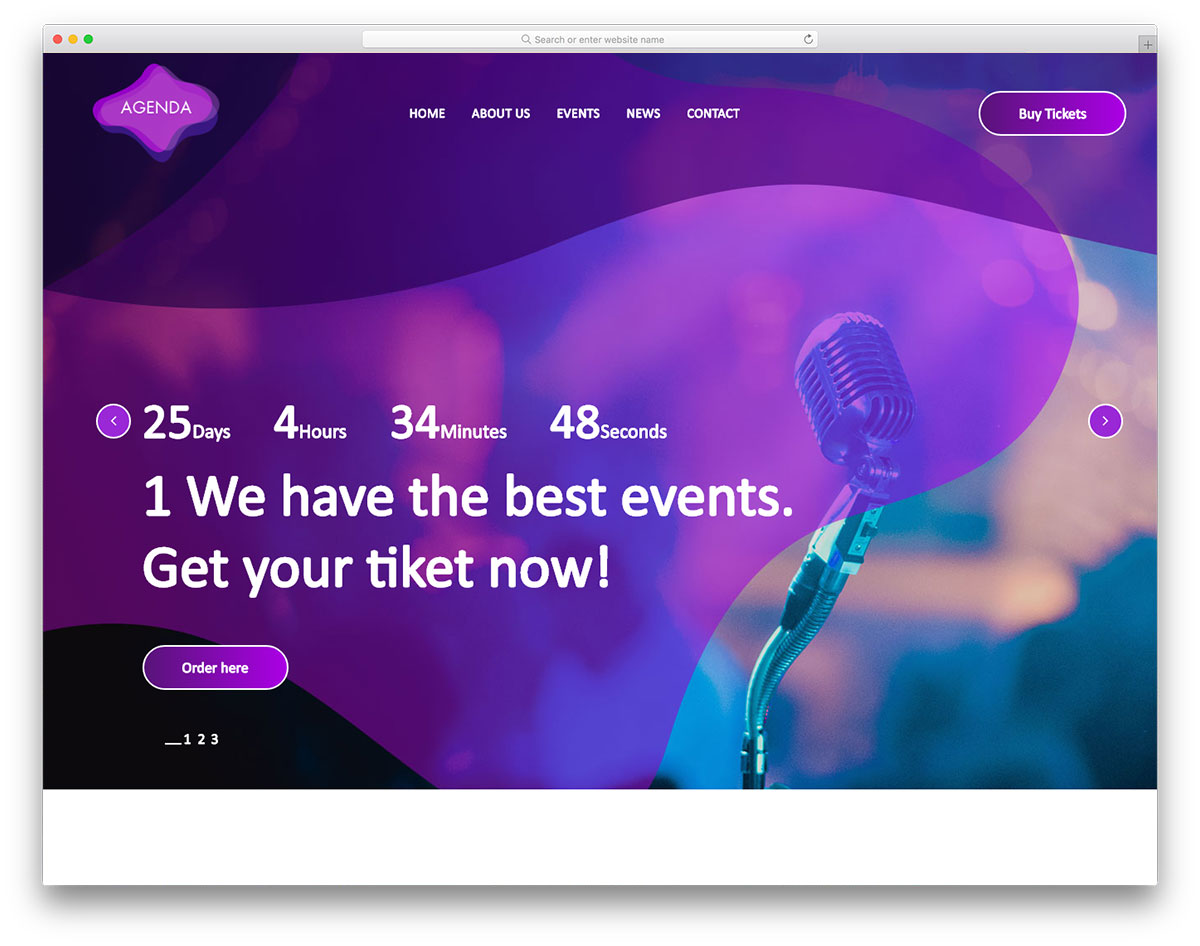 18 Best Mobile-Friendly Free Music Website Templates 2019 - Colorlib