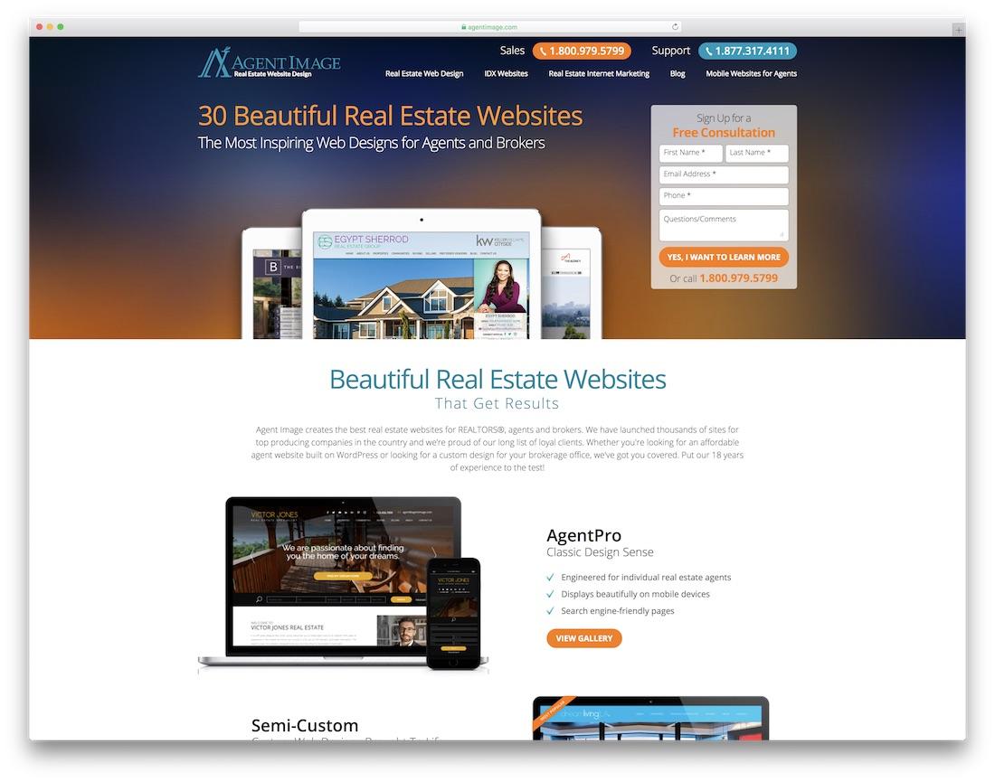 agent image real estate agent website builder