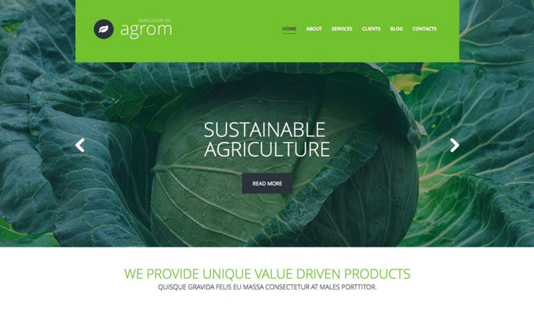 Treasures Of Organic Agriculture: 30 Best Farming WordPress Themes 2017