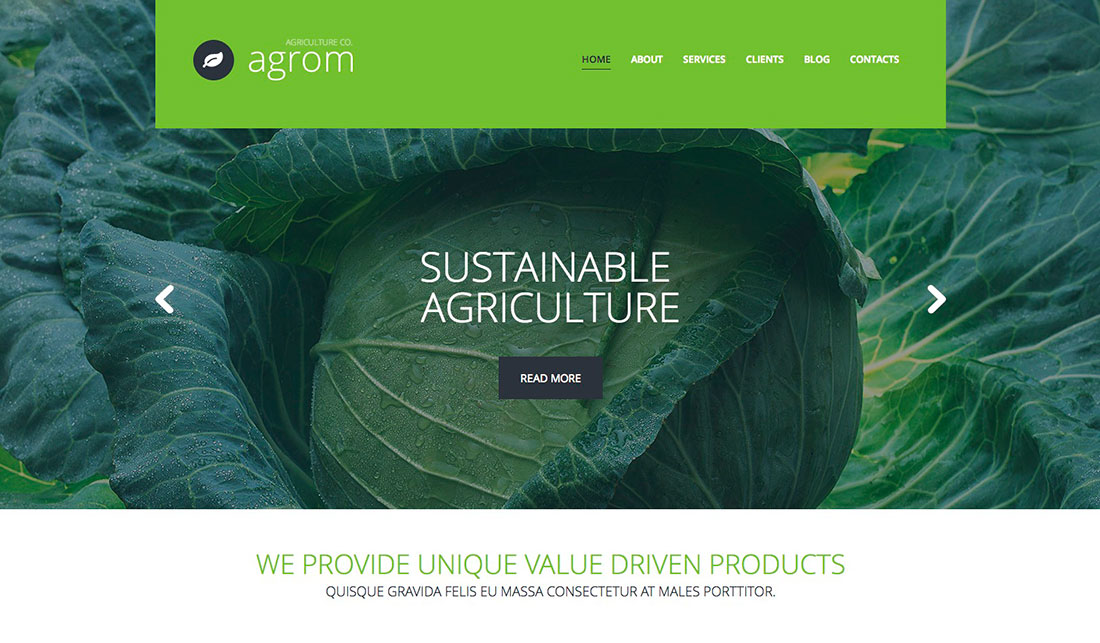 Treasures Of Organic Agriculture: 30 Best Farming WordPress Themes 2018